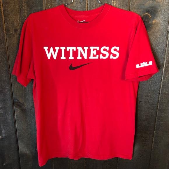 nike shirts lebron james witness tshirt size large